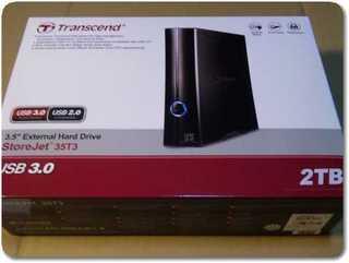 トランセンドHDDの2TBの箱