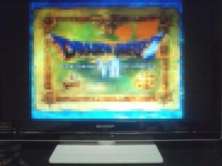 LC-24K7に昔のテレビゲーム画面表示