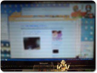 LC−24K7パソコン画面とテレビ画面同時表示