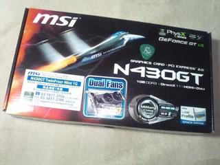 msi_N430GTグラフィックボード